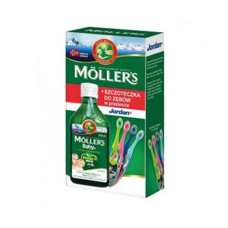 Mollers Baby+ Omega-3  250мл + зубная щетка в подарок  (Норвегия)