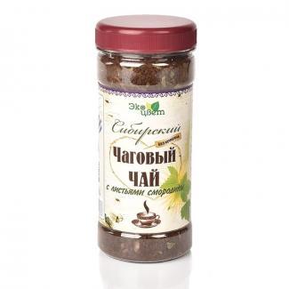 Чаговый чай с листьями смородины ПЭТ 90гр