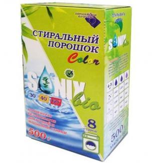 Универсальный стиральный порошок СОНИКС БИО КОЛОР для цветного белья, 500 г 8 стирок