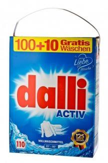 Dalli Activ Универсальный стиральный порошок без фосфатов для белого белья 7150 г 110 стирок