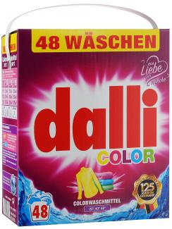 Dalli Color Концентрированный универсальный порошок для цветного и белого белья 3120 г 48 стирок