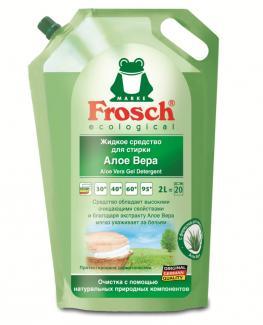 Frosch Универсальный, концент. гель для стирки белого и цветного белья Алоэ Вера, 2000 мл 20 ст