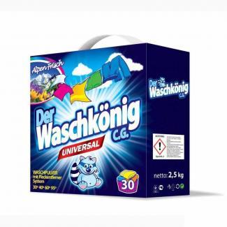 Универсальный стиральный порошок Der Waschkonig 2,5 кг (30 стирок)  (Германия)