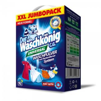 Универсальный стиральный порошок Der Waschkonig(Вашконик) 7,5 кг (92 стирки)  (Германия)