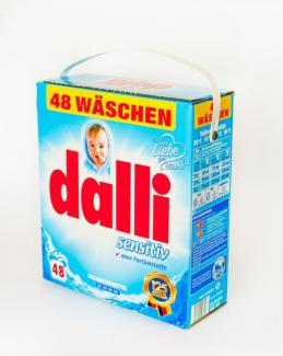 Dalli Sensitive Универсальный порошок без фосфатов для людей с чувствительной кожей 3120 г 48 стирок