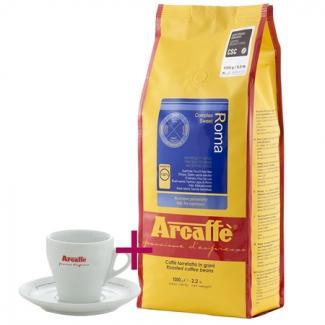 Купить кофе Arcaffe Roma 1000 г + чашка для капучино (Италия)