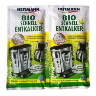Экспресс био очиститель HEITMANN накипи для кофеварок и электрочайников 2 шт 25 гр