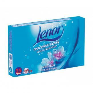 Купить салфетки ароматизированные для сушки белья Lenor Trocknertücher Aprilfrisch в Москве
