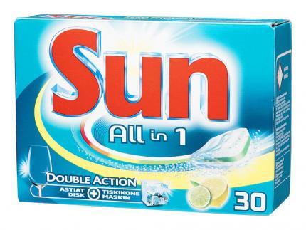 Sun таблетки для посудомоечной машины Лимон 30 шт (Нидерланды)