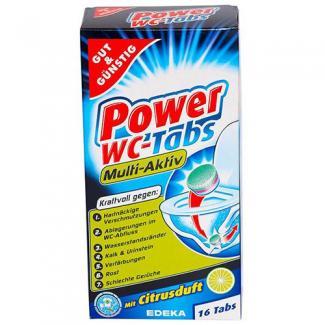 Таблетки для очистки унитаза Power WC-Tabs Multi-Aktiv-16 шт