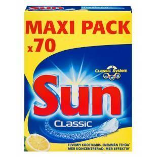 Sun таблетки для посудомоечной машины Лимон 70 шт (Нидерланды) Финляндия
