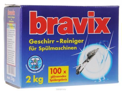 Bravix Порошок для ПММ, содержит активный кислород, картон 2000 г