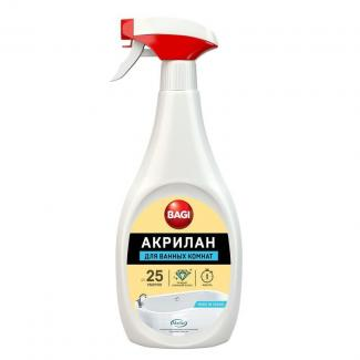 Bagi АКРИЛАН спрей для чистки и обновления акриловых ванн, душевых кабин и бассейнов, 400 мл
