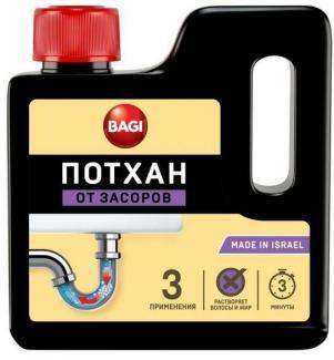 БАГИ ПОТХАН гранулированное средство для удаления засоров раковин, ванн, канализационных труб, 250 г