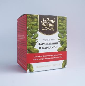 Чай Золото Индии Premium Дарджилинг с кардамоном (Darjeeling black tea with Cardamom) 3г х 15 пак.